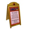 Handcrafted Diner Wood Sandwich Board Menu Sign