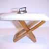 Padded Working Walnut Ironing Board with Iron