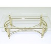 Modern Brass Coffee Table With Clear Top