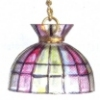 Illuminated Modern Stained Glass Chandelier