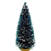 Christmas Tree With Snow on Gold Wood Base