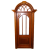 Bespaq Cambridge Walnut Entrance Door with Glass