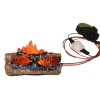Flickering Fireplace or Camping Fire Logs Battery Operated