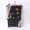 Filled Halloween Magic Haunted Witch Bookcase or Hutch