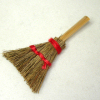 Real Wood & Straw Rustic Fireplace Hearth Hand Whisk Broom