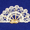 Artisan Crafted Spanish Bobbin Lace Fan