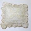 Artisan Crafted Spanish Bobbin Lace Leaf Pillow