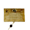 M Folch Artisan Crafted Antiqued Document with Sealed Tassel