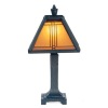 Lighting Craftsman Style Geometric Pattern Table Lamp
