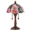 Working Victorian Floral Table Lamp 12 volt