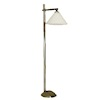 Working Modern Pewter Floor Lamp with Cone Shade