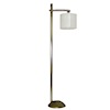 Working Modern Pewter Floor Lamp with Palace Shade