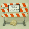 Handcrafted Wood Road Closed Street Sign