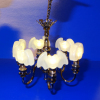 Battery Operated Six Arm Scary Bat Chandelier