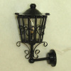 Working Ornate Filigree Carriage or Coach Lamp Sconce