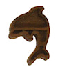 Hand Crafted Tiny Dark Wood Dolphin Wall Decor