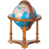 Large Dollhouse World Globe on Walnut Stand