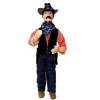 Artisan Crafted Porcelain Dollhouse Man Cowboy with Holster Doll
