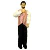 Porcelain Doll Casino Dealer Croupier or Saloon Pub Bartender