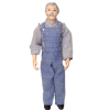 Artisan Porcelain Dollhouse Man Doll Farmer Grandpa