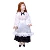 Artisan Crafted Porcelain Maid or Waitress Dollhouse Doll