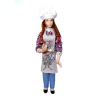 Artisan Crafted Porcelain Bakery Shop Girl