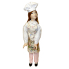 Artisan Crafted Porcelain Bakery Shop Girl in Chef Hat