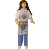 Artisan Crafted Porcelain Bakery Shop Girl in Apron