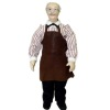 Artisan Crafted Porcelain Store Clerk Shopkeeper Doll