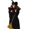 Artisan Crafted Dollhouse Doll Halloween Witch with Broom