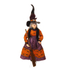 Artisan Crafted Dollhouse Halloween Witch with Broom