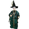 Artisan Crafted Dollhouse Doll Halloween Witch in Green
