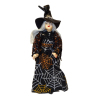 Porcelain Halloween Witch in Spider Web Dress