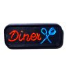 Working Neon Diner Sign Red and Blue