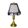 Working Fringed Leopard Shade Library Lamp