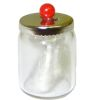 Cotton Swabs in Glass Jar