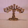 Ornate Gold Hanukkah Menorah