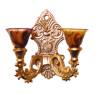 Smokey Brown Double Shade Victorian Wall Sconce