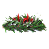 Christmas Candle Centerpiece or Fireplace Mantle Decoration