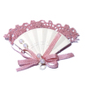Dusty Rose Lace Trimmed Victorian Fan