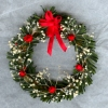 Deluxe Christmas Wreath with Red Ball Ornaments