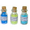 Rock Candy Crystals in Glass Bottle Set
