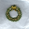 Deluxe Christmas Wreath with Golden Bow and Ornaments