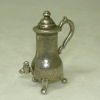 Large Silver Metal Coffee Urn