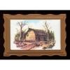Framed Landscape of Barn Tobacco Advertisment
