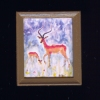 Antelope African Plains Wildlife Picture in Frame