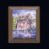 Cute Framed Zebra Animal Picture