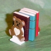 Teddy Bear Bookends with Books