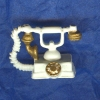 Ornate Gilded White French Telephone