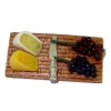 Yesenia Slater Handcrafted Wood Cheese Board With Grapes